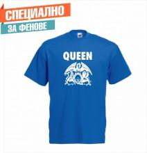 Мъжка тениска с  печат на лого QUEEN