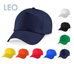 Шапка с козирка LEO + печат на лого в един цвят