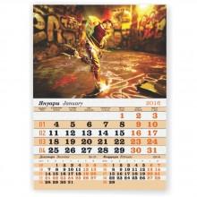 Стенен работен календар Единица Пасифик