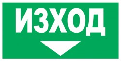 Указателен знак  - Авариен изход - 017