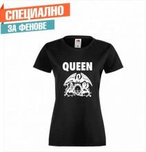 Дамска тениска с  печат на лого QUEEN