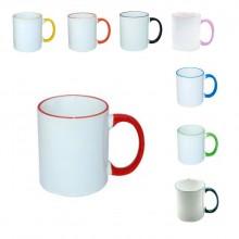 Чаша за сублимация  с цветна дръжка