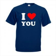 Тениска с печат - I LOVE YOU - Романтика 002